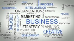 De bedrijfsstrategie ontwikkelt online oplossingenwoord royalty-vrije illustratie