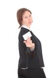 De bedrijfsvrouw. royalty-vrije stock afbeelding