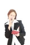 De bedrijfsvrouw. stock fotografie