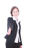 De bedrijfsvrouw. stock afbeeldingen