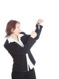 De bedrijfsvrouw. stock afbeelding