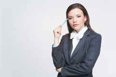De bedrijfsvrouw Stock Foto's