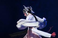 """De bedwelmen-vierde handeling unexpectedness-Kunqu Opera""""Madame Witte Snake† royalty-vrije stock afbeeldingen"""