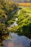De beek in de Provence stock fotografie