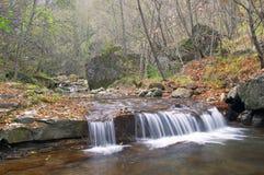 De beek van de berg in de herfst Stock Foto's