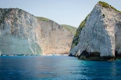 De beelden die van de de zomervakantie van Zakynthos voor een vakantie op het eiland inspireren Stock Foto
