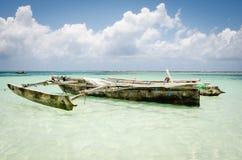 De beelden die van de de zomervakantie van Zanzibar voor een vakantie op het eiland inspireren Stock Foto's