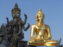 De beelden van Boedha bij de Gouden Driehoek Thailand Royalty-vrije Stock Fotografie