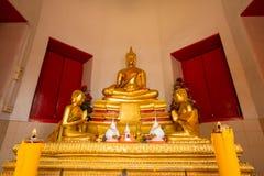 De beelden van Boedha en Boeddhistische tempels stock foto