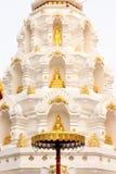 De beelden van Boedha in pagode Royalty-vrije Stock Foto