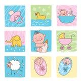 De beelden van de baby Stock Foto's