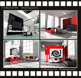 De beelden van de inzameling van woonkamers vector illustratie