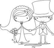 De beelden van het huwelijk, vector royalty-vrije illustratie