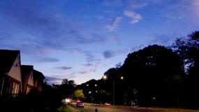 De Beelden van het zonsonderganglandschap Stock Foto's