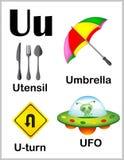 De beelden van U van de alfabetbrief stock illustratie