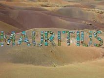 De beeldencollage van Mauritius stock foto