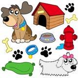De beeldeninzameling van de hond Stock Foto's