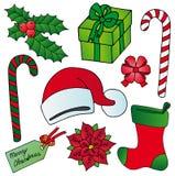 De beeldeninzameling van Kerstmis Stock Fotografie