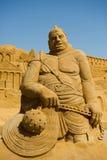 De beeldhouwer van het zand Stock Foto's