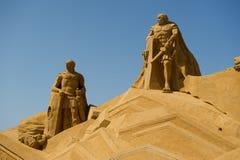 De beeldhouwer van het zand Stock Afbeelding