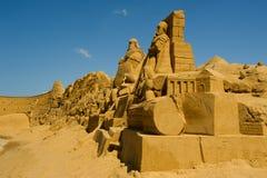De beeldhouwer van het zand Stock Afbeeldingen
