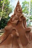 De beeldhouwer van het zand Royalty-vrije Stock Afbeelding