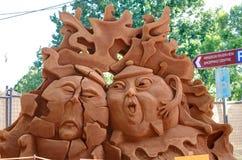 De beeldhouwer van het zand Royalty-vrije Stock Foto