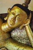 De beeldhouwwerken van Boedha in tempel Royalty-vrije Stock Afbeeldingen