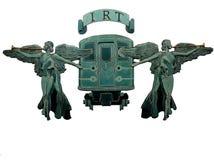 De Beeldhouwwerken van de engel in Metro NYC Stock Afbeeldingen
