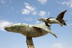 De beeldhouwwerken van de walvis Royalty-vrije Stock Foto's