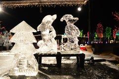 De beeldhouwwerken van het ijs Stock Fotografie