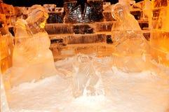 De beeldhouwwerken van het ijs Royalty-vrije Stock Afbeeldingen