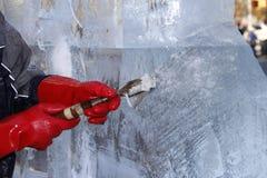 De Beeldhouwwerken van het ijs in Manhattan Stock Fotografie