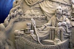 De Beeldhouwwerken van het zand - Charon Royalty-vrije Stock Foto's