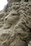De Beeldhouwwerken van het zand - de leeuw Royalty-vrije Stock Fotografie