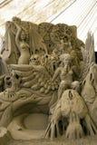 De Beeldhouwwerken van het zand - Pijler Delle Vigne Royalty-vrije Stock Foto