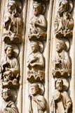De Beeldhouwwerken van Parijs en van Notre Dame Stock Afbeeldingen