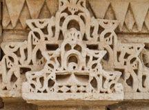De Beeldhouwwerkendetails van de steenmuur van gfw w Royalty-vrije Stock Afbeeldingen