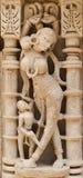 De Beeldhouwwerkendetails van de steenmuur van gfw w Royalty-vrije Stock Fotografie