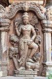 De beeldhouwwerkkabel werd gebonden aan een boom, The Times sinds Thailand Stock Afbeelding