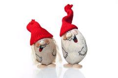 De beeldjes van de kerstman die op wit worden geïsoleerd Stock Fotografie