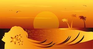 De beeldspraak van het de zomerlandschap royalty-vrije illustratie