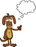 De beeldverhaalhond zegt stock illustratie