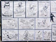 De beeldverhalen van de overheidsambtenaren worden gezien in oppositiekamp Stock Fotografie