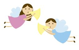 De beeldverhalen van engelen royalty-vrije illustratie