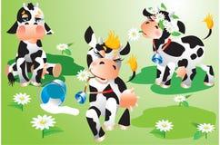 De beeldverhalen van koeien Royalty-vrije Stock Afbeelding