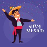 De beeldverhalen van Vivamexico stock illustratie