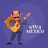 De beeldverhalen van Vivamexico royalty-vrije illustratie