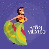 De beeldverhalen van Vivamexico vector illustratie