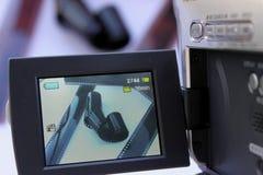 De beeldzoeker van de camera stock foto's